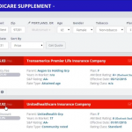 Medicare supplement quote engine